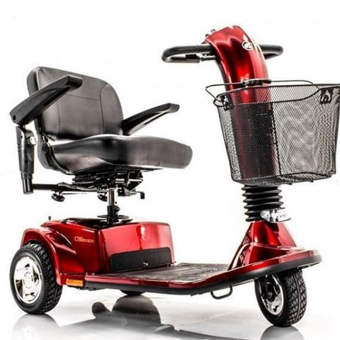 Golden Technologies Companion 3-Wheel Bariatric Scooter GC340D Red Front View