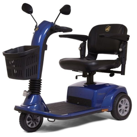 Golden Technologies Companion Mid 3-Wheel Scooter GC240 Blue Right Side View