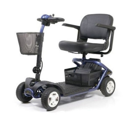 Golden Technologies LiteRider 4 Wheel Mobility Scooter GL141D Blue Left View