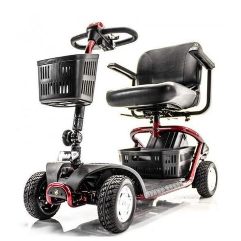Golden Technologies LiteRider 4 Wheel Mobility Scooter GL141D Red Left View
