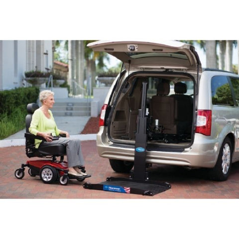 Harmar AL600 Hybrid Power Chair and Scooter Lift Use the remote control