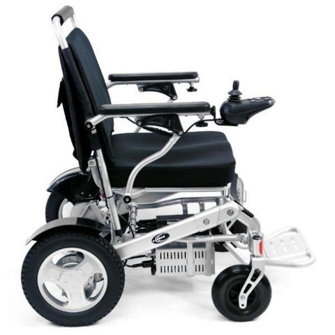 Karman Tranzit Go Lightweight Folding Power Wheelchair Side View