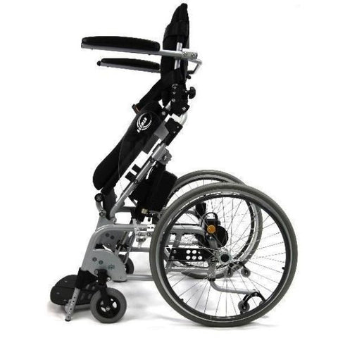 Karman XO-101 Manual Push Power Assist Stand Wheelchair Footplates and Full length armrests View