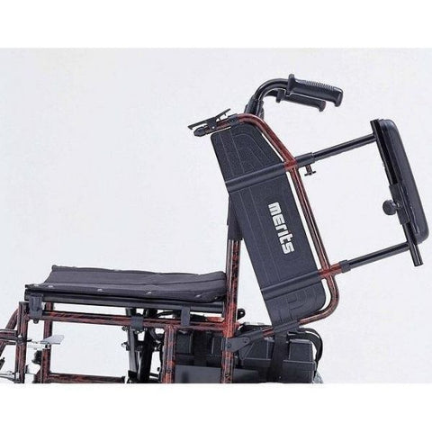 Merits Health P101 Travel-Ease Electric Folding Power Chair Adjustable height flip-up armrests View