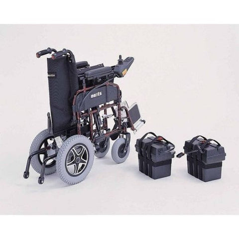 Merits Health P101 Travel-Ease Electric Folding Power Chair Battery View