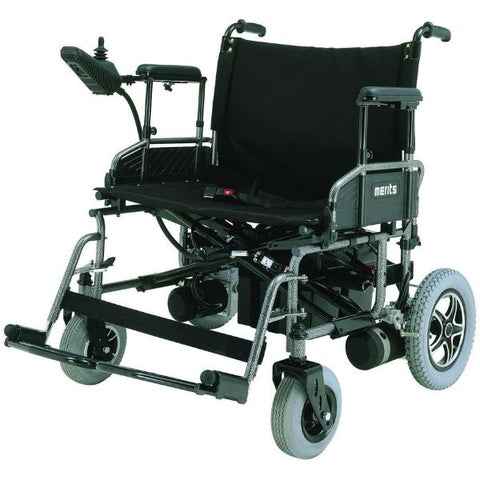Merits Health P182 Travel-Ease Folding Bariatric Power Chair 600 lbs Front View