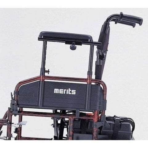 Merits Health P182 Travel-Ease Folding Bariatric Power Chair 600 lbs Side View