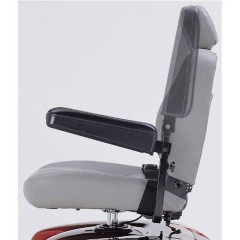 Merits Health P301 Gemini Rear Wheel Drive Electric Wheelchair Adjustable Armrest View