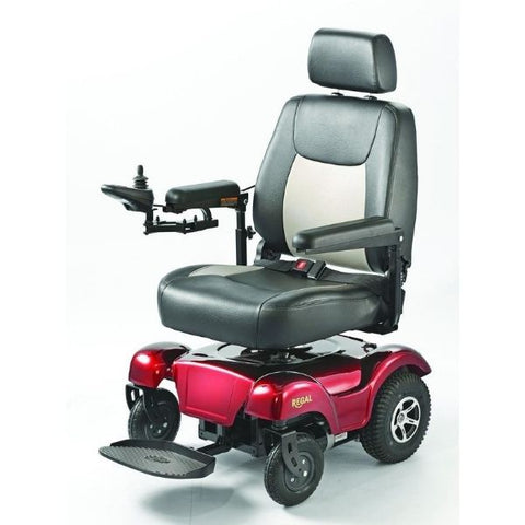 Merits Health P310 Regal Compact Rear Wheel Drive Power Chair Front View