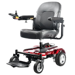 Merits Health P321 EZ-GO Compact Electric Wheelchair Red Front View
