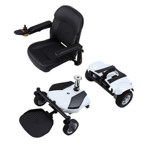 Merits Health P321 EZ-GO Electric Wheelchair Adjustable Footplate and Padded Seat