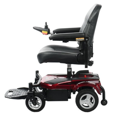 Merits Health P321 EZ-GO Electric Wheelchair Red Side View
