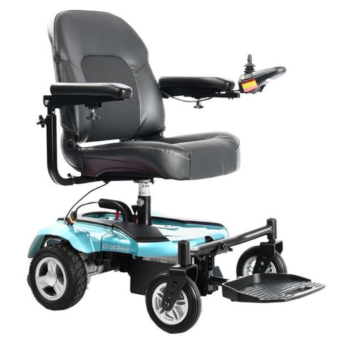 Merits Health P321 EZ-GO / EZ-GO Deluxe Compact Electric Wheelchair Turquoise Right View