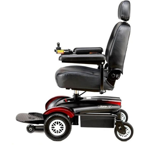 Merits Health P322 Vision CF Electric Wheelchair Side View