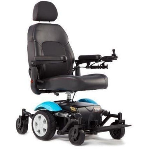 Merits Health P326A Vision Sport Electric Wheelchair Blue Right View