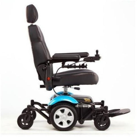 Merits Health P326A Vision Sport Electric Wheelchair Blue Side View