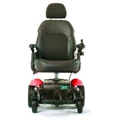 Merits Health P326A Vision Sport Electric Wheelchair Red Front View