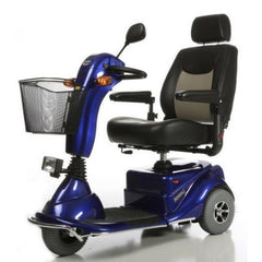 Merits Health S131 Pioneer 3 Travel 3 Wheel Scooter Blue Left View