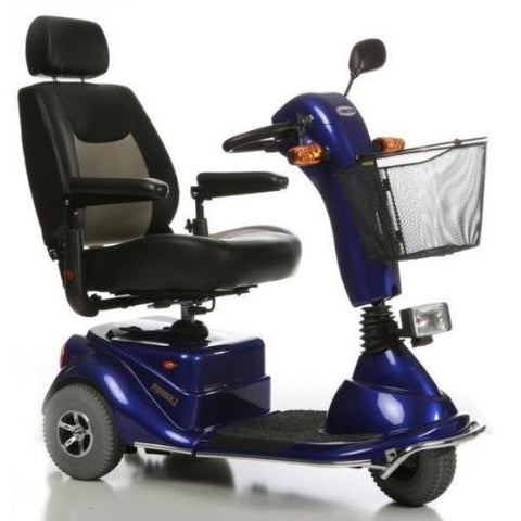 Merits Health S131 Pioneer 3 Travel 3 Wheel Scooter Blue Right View