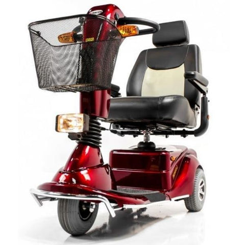 Merits Health S131 Pioneer 3 Travel 3 Wheel Scooter Red Front View