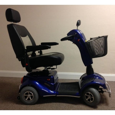 Merits Health S141 Pioneer 4 Wheel Scooter Blue Side View