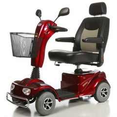Merits Health S141 Pioneer 4 Wheel Scooter Red Left View