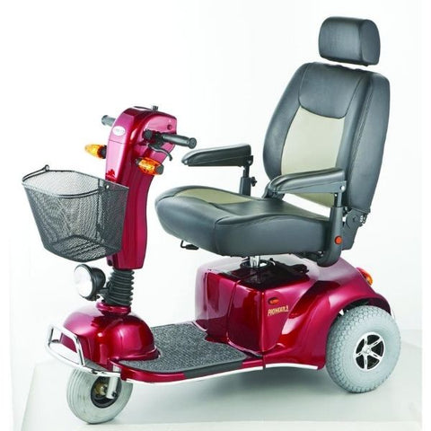 Merits Health S331 Pioneer 9 DLX 3 Wheel Bariatric Scooter Red Left View