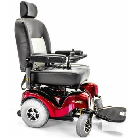 Merits P710 Atlantis Heavy Duty Electric Power Wheelchair Side View