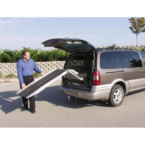 PVI Folding Rear Door Ramp Easily Operated by One Person View