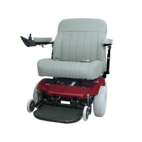 PaceSaver Scout Boss 675 Bariatric Electric Wheelchair With Suspension Red Front View