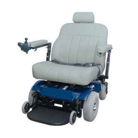 PaceSaver Scout Boss 6 Bariatric Electric Wheelchair With Suspension Blue Front View