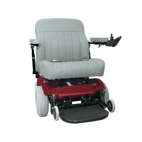 PaceSaver Scout Boss 6 Bariatric Power Wheelchair With Suspension Red front View