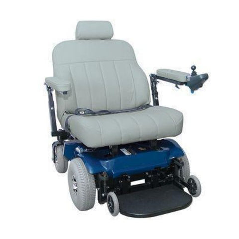 PaceSaver Scout Boss 6NS Bariatric Electric Wheelchair No Suspension Blue Right View