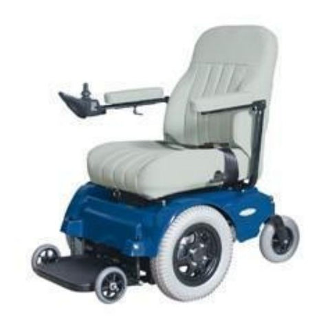 Pacesaver Scout Midi-Drive Electric Power Wheelchair Blue Left View