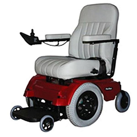 Pacesaver Scout Midi-Drive Electric Power Wheelchair Red Left View