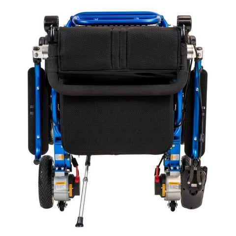 Pathway Mobility Geo-Cruiser LX Folding Power Wheelchair Blue Folding View