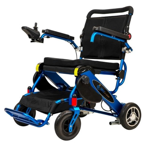 Pathway Mobility Geo-Cruiser LX Power Wheelchair Blue Left View