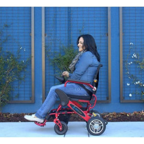 Pathway Mobility Geo-Cruiser LX Power Wheelchair Left Side with Passenger View