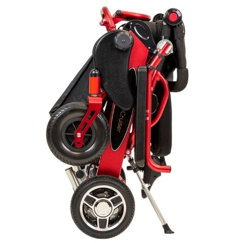 Pathway Mobility Geo-Cruiser LX Power Wheelchair Red Folding View