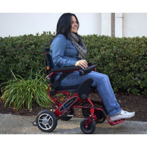 Pathway Mobility Geo-Cruiser LX Power Wheelchair Right Side with Passenger View