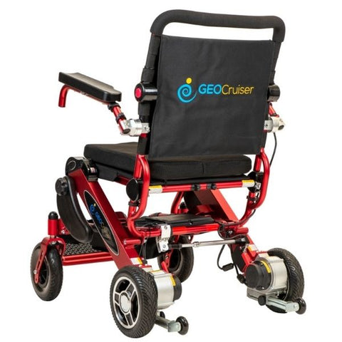 Pathway Mobility Geo Cruiser Elite EX Foldable Power Wheelchair Red Back View