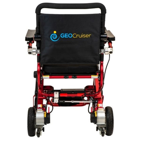 Pathway Mobility Geo Cruiser Elite EX Folding Power Wheelchair Red Back View