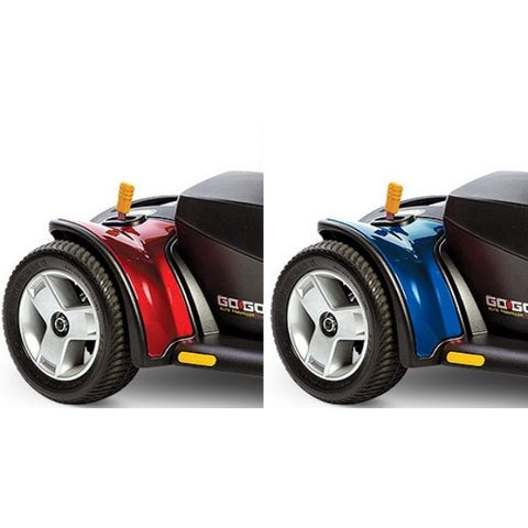 Pride Go-Go Elite Traveller Plus 3 Wheel Scooter Rear Wheel View