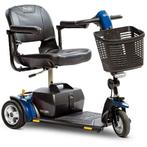 Pride Go-Go Elite Traveller Plus 3 Wheel Scooter SC53 Blue Right View