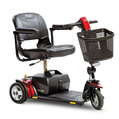 Pride Go-Go Elite Traveller Plus 3 Wheel Scooter SC53 Red Right View