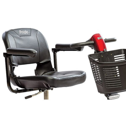 Pride Go-Go Elite Traveller Plus 3 Wheel Scooter Seat View