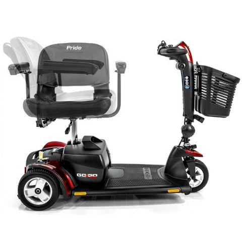 Pride Go-Go Sport 3 Wheel Mobility Scooter S73 Swivel Seat View