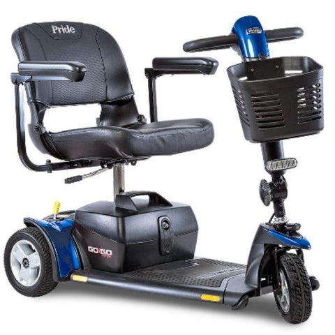 Pride Go-Go Sport 3 Wheel Travel Scooter S73 Blue Front View
