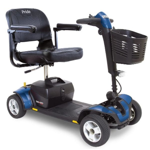 Pride Go-Go Sport 4 Wheel Scooter S74 Blue Right View