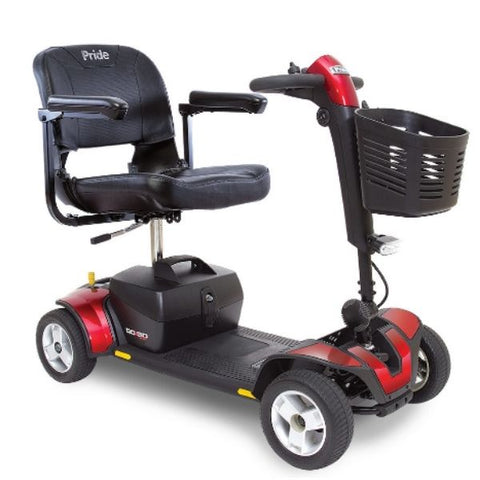 Pride Go-Go Sport 4 Wheel Scooter S74 Red Right View
